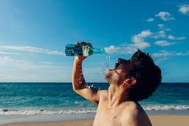 better tasting spunk water man drink beach