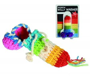 rainbow willy warmer sexy stocking fillers