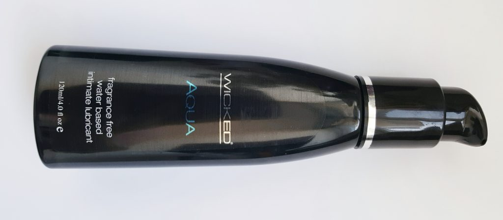 Wicked Aqua Water Based Lubricant Bottle Front