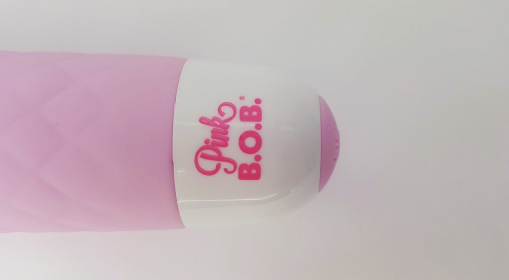 Pink B.O.B Lust Silicone Rechargeable Wand Logo