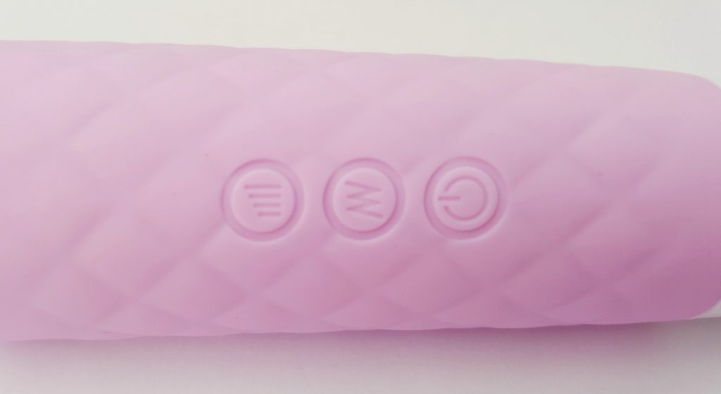 Pink B.O.B Lust Silicone Rechargeable Wand Buttons