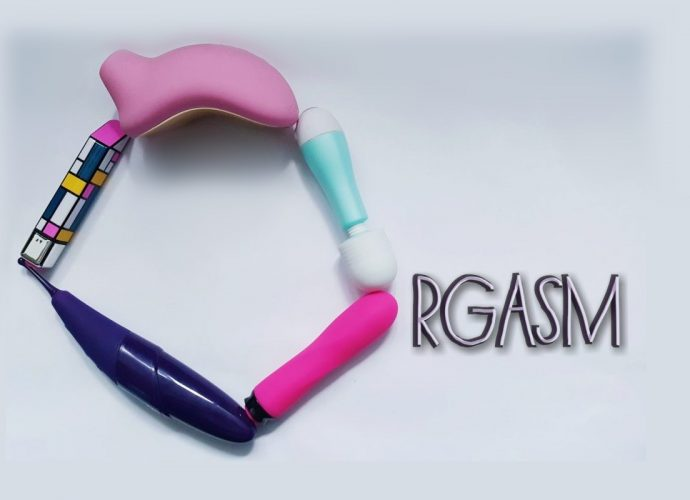 Feature photo of sex toys in a circle to make the letter O, followed by the lettering rgasm.