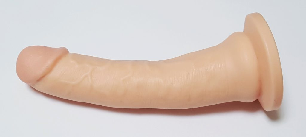 "Image demonstrating the Lovehoney Lifelike Lover Ultra Realistic 7"" Dildo's Curved Shaft"