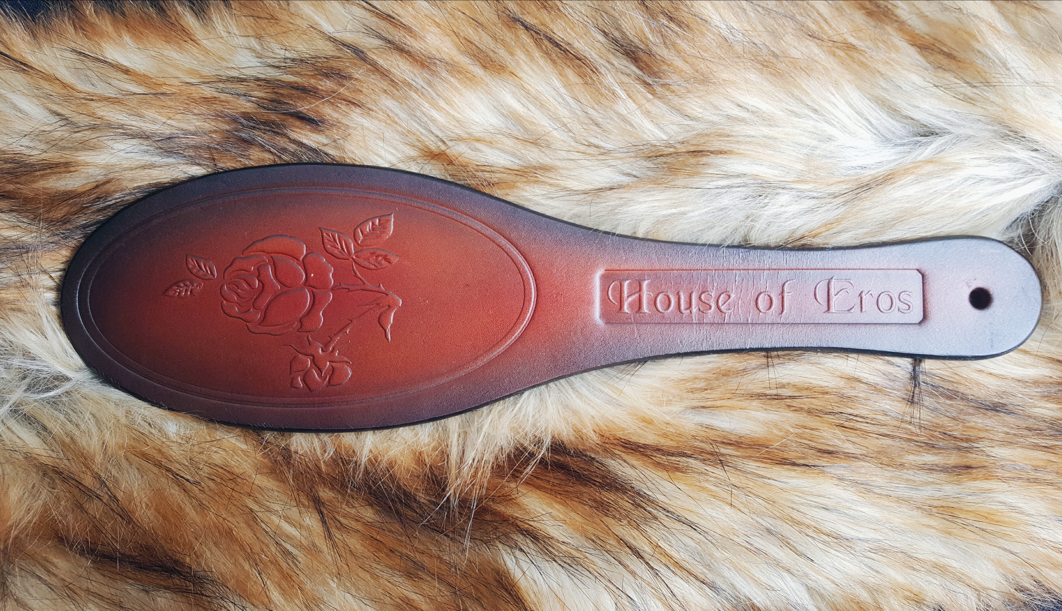 House of Eros Rose Pattern Shoe Paddle On Fur